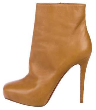 Christian Louboutin Leather High Heel Boots