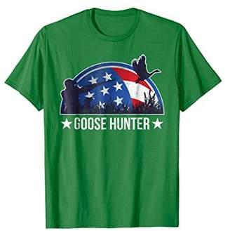 Hunter Goose American Flag Patriotic Goose Hunting Shirt