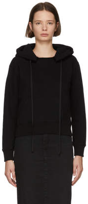 Unravel Black Terry Brushed Hoodie