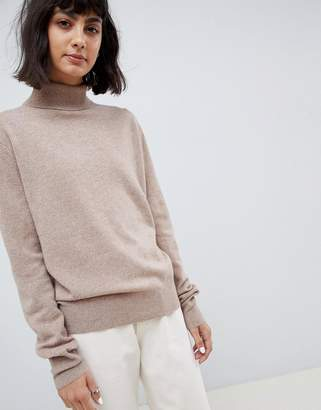 Asos 100% cashmere jumper with roll neck