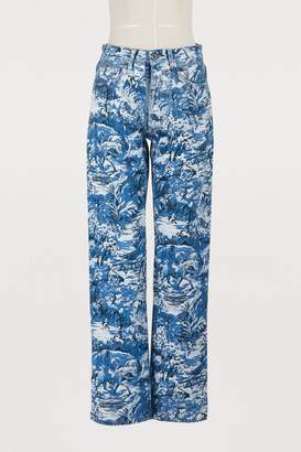 Off-White Off White Tapestry straight jeans