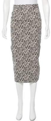 Torn By Ronny Kobo Printed Midi Skirt w/ Tags