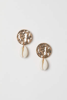 H&M Earrings with Shell Pendant