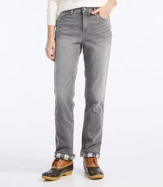 L.L. Bean L.L.Bean 1912 Jeans, Classic Fit Straight-Leg Lined