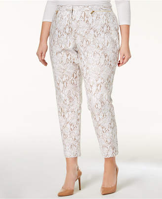 Calvin Klein Plus Size Printed Skinny Pants