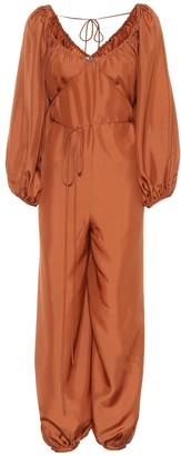 Three Graces London Nora silk jumpsuit