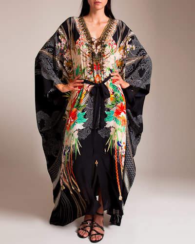 Queen Of Kings Split Front Lace Up Kaftan