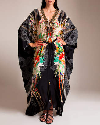 Camilla Queen Of Kings Split Front Lace Up Kaftan