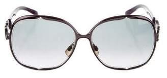 John Galliano Oversize Gradient Sunglasses