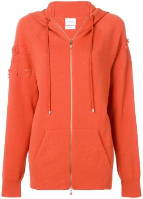 Barrie laddered stitch zipped hoodie