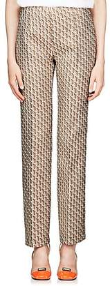 Prada Women's Geometric-Pattern Imperial Brocade Pants - Gold