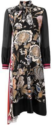 Tory Burch multi-print midi dress