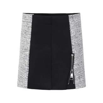 Karl Lagerfeld LagerfeldGirls Neoprene & Tweed Skirt