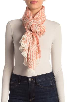 Madewell Textured Jacquard Wool Blend Scarf