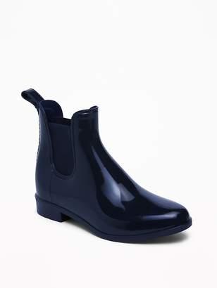 Old Navy Vinyl Chelsea Ankle Rain Boots for Girls