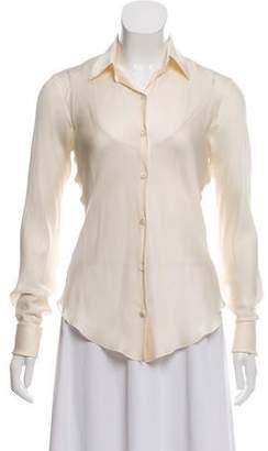 Ralph Lauren Long Sleeve Silk Blouse