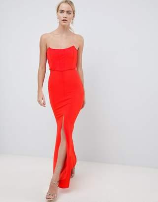 Asos DESIGN corset cut out maxi dress