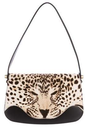 Gucci 2017 Ponyhair Leopard Shoulder Bag