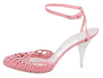 Chanel Woven Leather Sandals