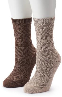 Columbia Women's 2-Pack Textured Crew Socks