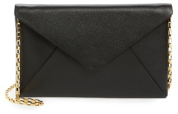 MICHAEL Michael KorsWomen's Michael Kors Small Calfskin Leather Envelope Clutch - Black