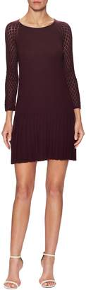 Shoshanna Women's Wool Pleated Flare Dress