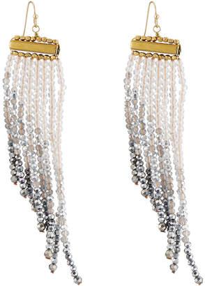 Panacea Ombre Crystal Fringe Earrings