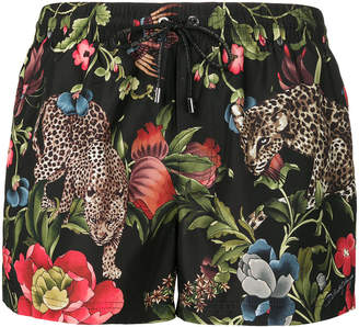 Dolce & Gabbana leopard print swim shorts