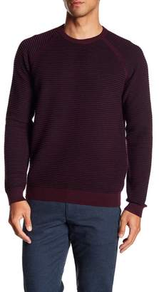 Ted Baker Long Sleeve Textured Wool Crew Neck