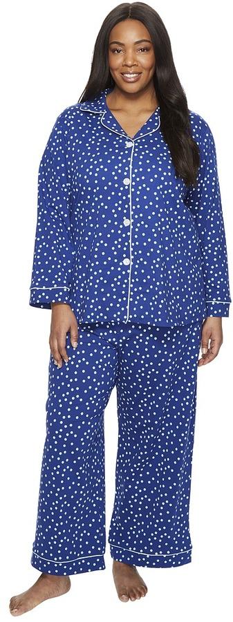 BedHeadBedHead - Plus Size Long Sleeve Classic Pajama Set Women's Pajama Sets