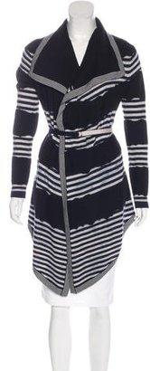Karen Millen Stripe Wool Cardigan $95 thestylecure.com