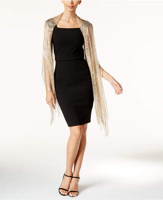 INC International Concepts I.N.C. Lurex® Metallic Net Evening Wrap, Created for Macy's