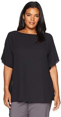 Anne Klein Women's Size Plus Ruffle Sleeve Blouse