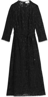 Zimmermann Embroidered Cotton And Silk-Blend Midi Dress