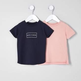 River Island Mini boys navy 'mayhem' T-shirt multipack
