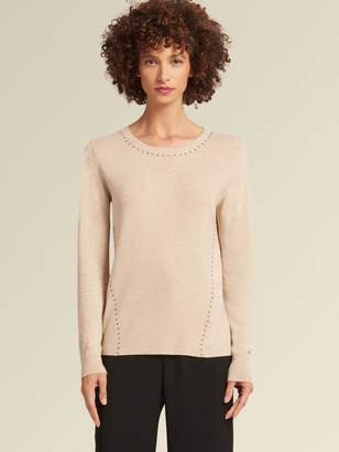 DKNY Studded Pullover Sweater