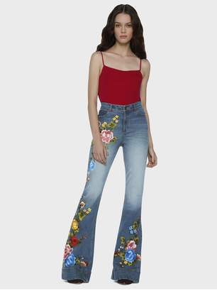 Alice + Olivia Beautiful High Waist Bell Jeans