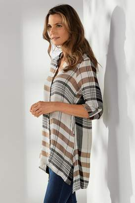 Soft Surroundings Emmanuelle Plaid Shirt