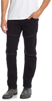 True Religion Moto Slim Zipper Jeans