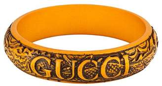 Gucci logo carved bangle