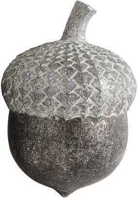 Creative Co-op Distressed Silver Finish Resin Acorn