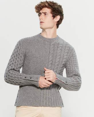 Thom Browne Mixed Stripe Long Sleeve Sweater