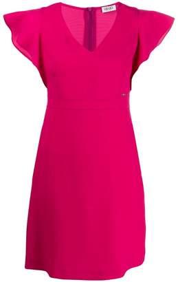 Liu Jo ruffle sleeve mini dress