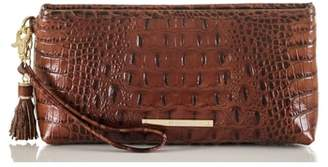 Brahmin Kayla Embossed Leather Clutch