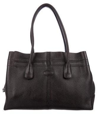 Tod's Small Grained Leather Tote Bag