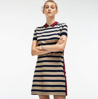 6a1c00ae51 at Lacoste · Lacoste Women s Contrast Bands Striped Pique Polo Dress