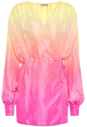ATTICO Silk wrap dress