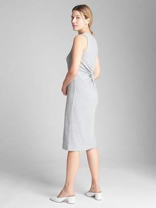 Gap Ribbed Softspun Midi Tank Dress with Twist-Knot Back