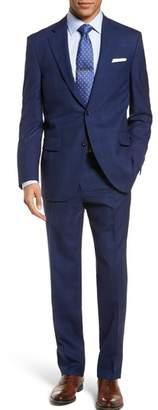Peter Millar Classic Fit Windowpane Wool Suit