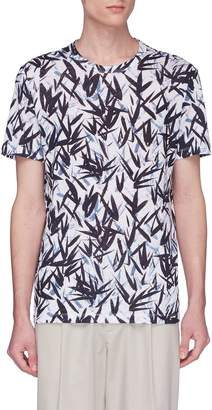 Theory 'Essential' leaf print T-shirt
